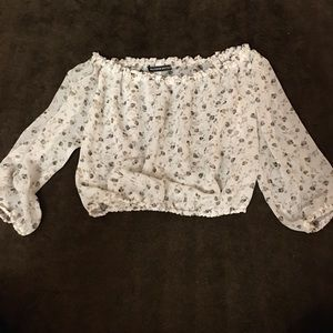 Brandy Melville floral blouse small